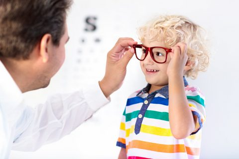 Children At Eye Care Centre